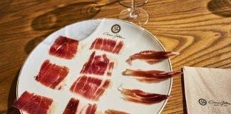 tasting plate of jamon