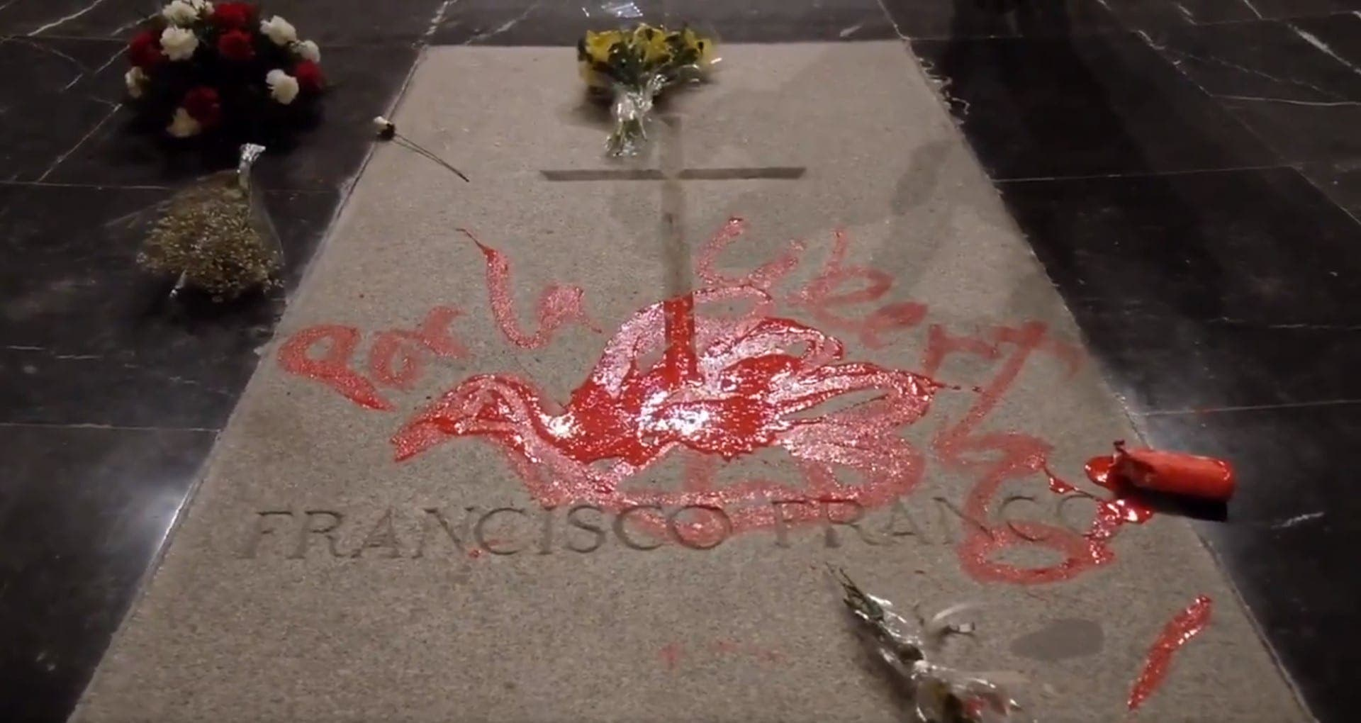 Franco grave defaced