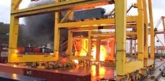 Crane fire