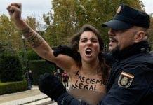 Franco protestor capyured