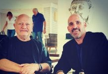 Giles and Steven Berkoff credit Marbella Diaries