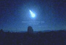comet over spain