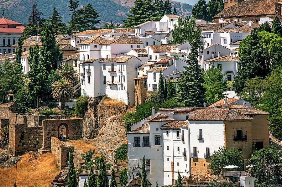 ronda white houses spain jenny rainbow