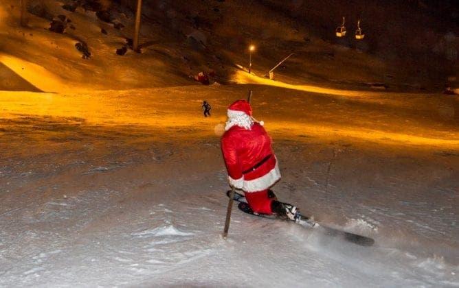 Santa Claus arrives on the slopes at Sierra Nevada