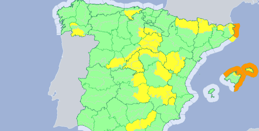 Big Map Of Spain.Big Freeze 30 Provinces Across Spain On Alert For Cold Temperatures
