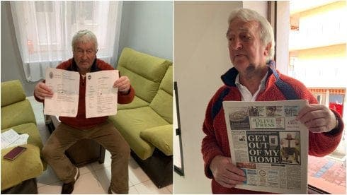 Expats rally around British pensioner made homeless on Spain's Costa del Sol as alleged 'squatter tenants' speak out