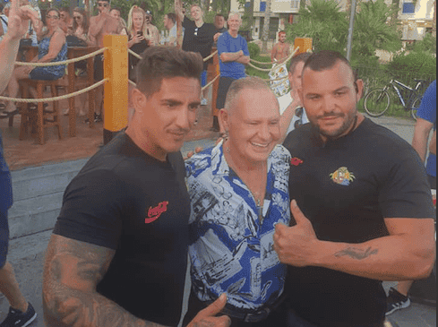 IN PICS: England football legend Paul Gascoigne SPOTTED with fans in Benidorm in run up to public speaking tour
