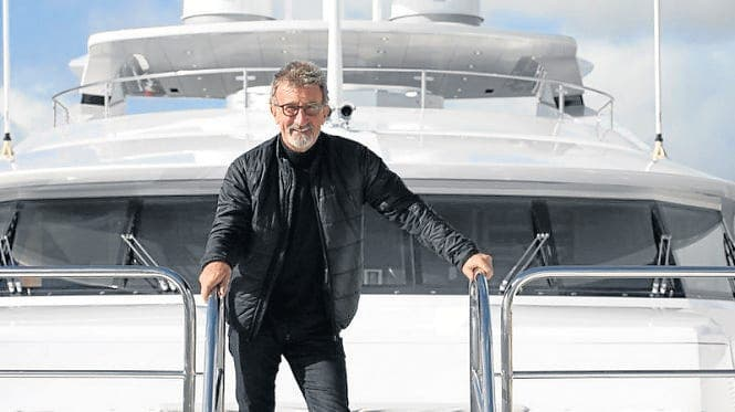 SPEEDING THROUGH: Top Gear co-host Eddie Jordan has docked his superyacht in Sotogrande
