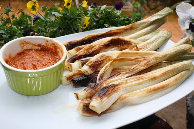 Calcots And Salsa Romesco