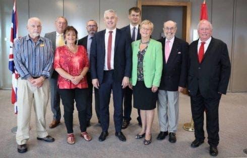 Stephen Barclay Meets Brits John Carrivick Far Right