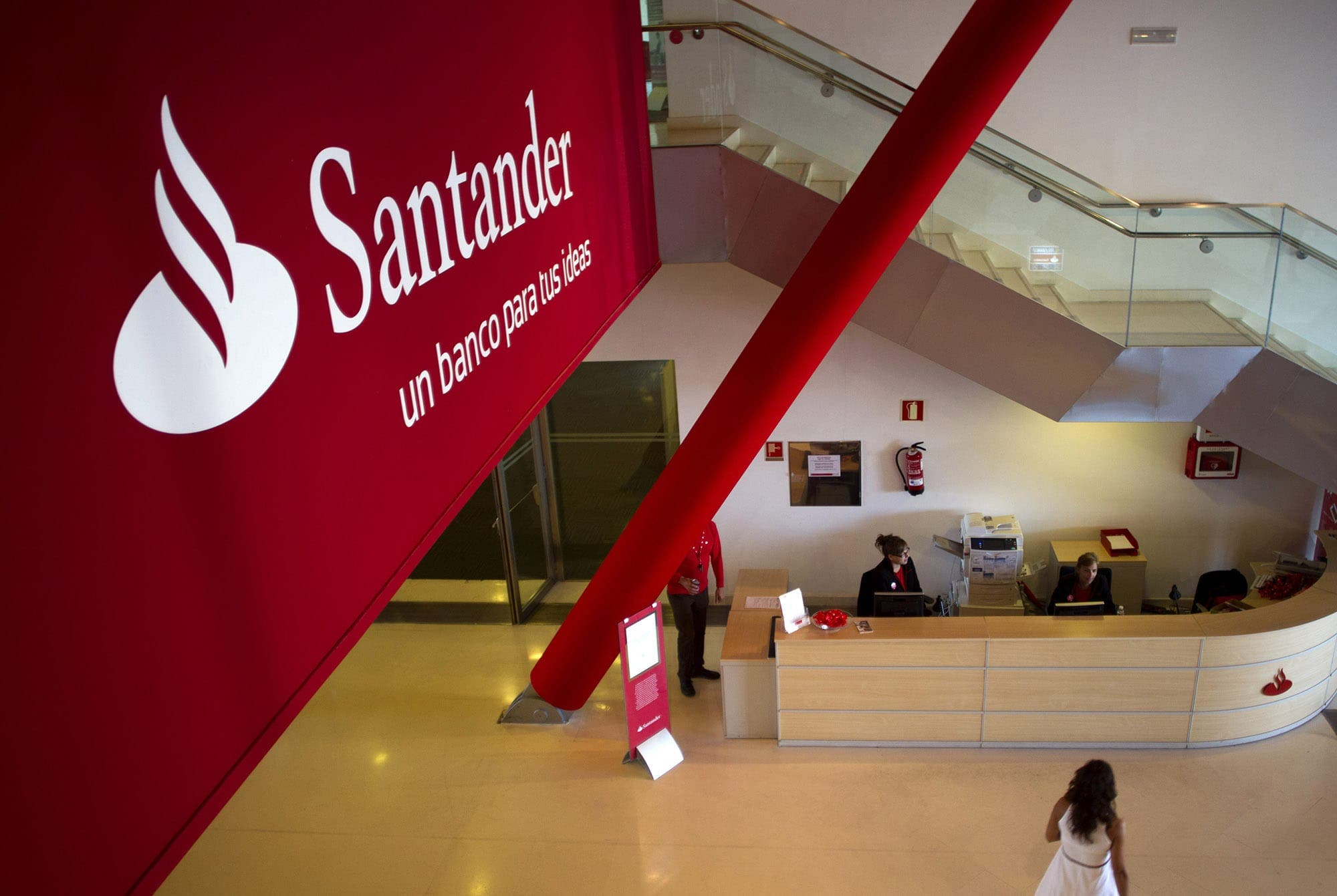 Inside The Headquarters Of Banco Santander Sa