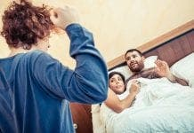 Man Caught Cheating On Wife Infidelity