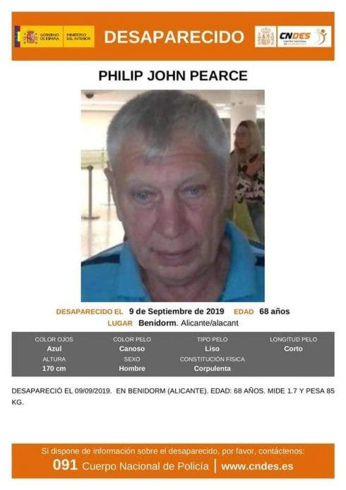 Missing Man Last Picture Of Philip Pearce In Alicante Airport