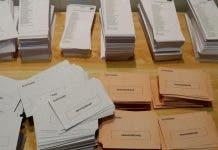 Voting Slips Spain