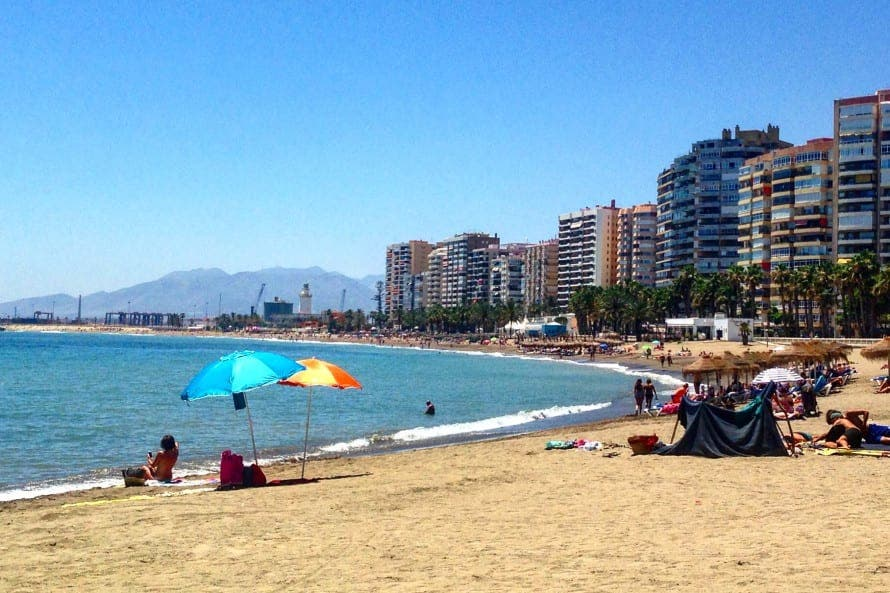 Beach Malaga Spain Wollak Photo 1