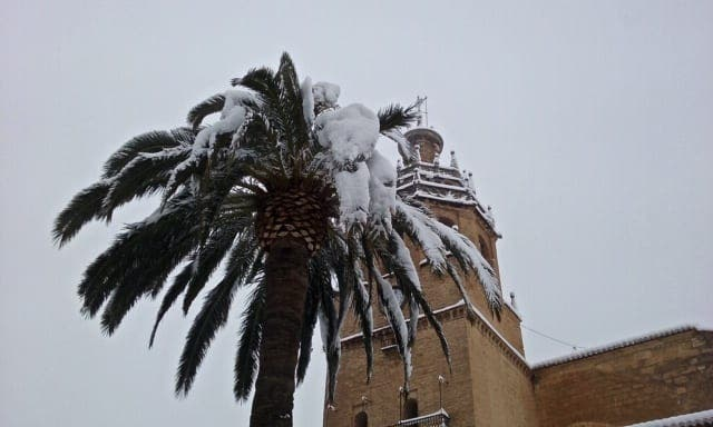 Snow In Ronda 1 Photo Karethe Linaae