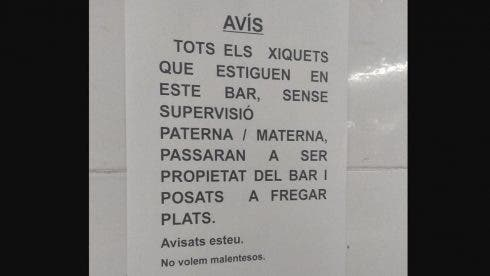 Valencian Bar Threatens Child Labour