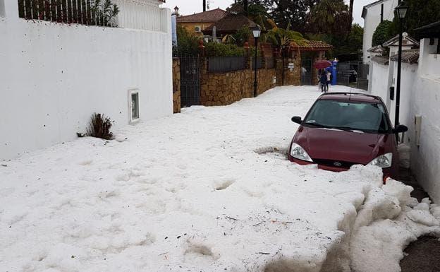 Car Trapped Marbella