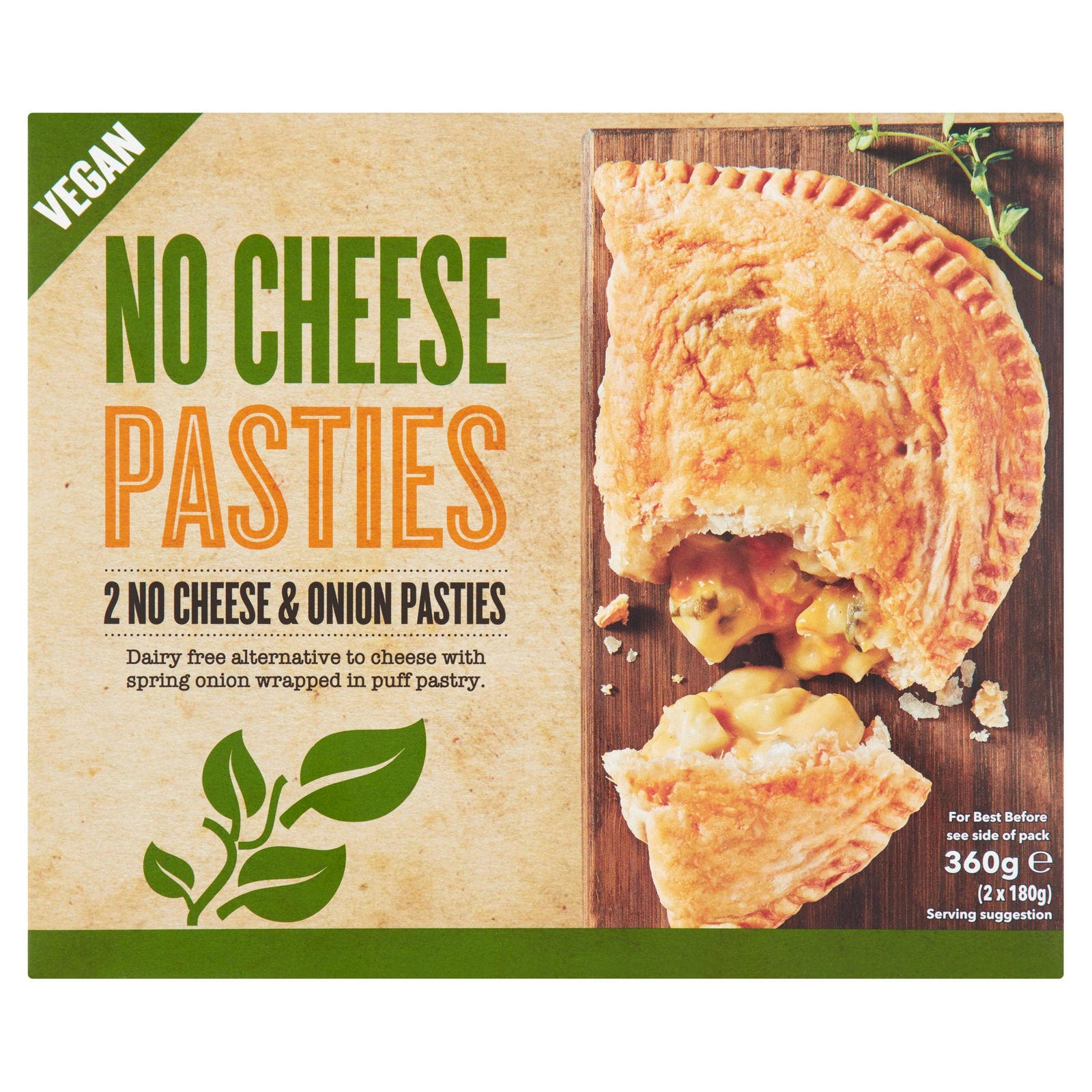No Cheese Pasty Contains Milk