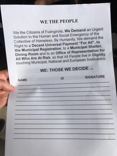 Homeless Petition