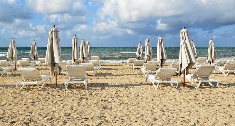Mallorca empty beach