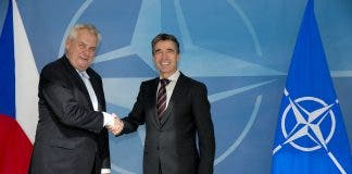 Visit To Nato By The President Of The Czech Republic