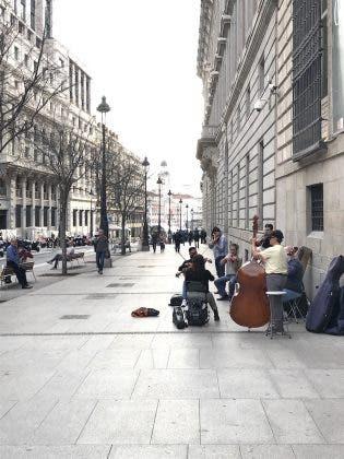 Buskers Close To The Prado
