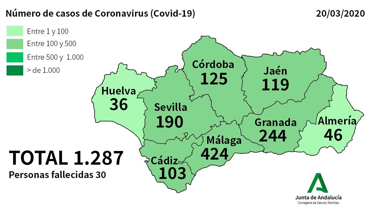 Mapped The Latest Coronavirus Cases In Spain S Andalucia As Region Prepares For 15 000 Covid 19 Patients Olive Press News Spain