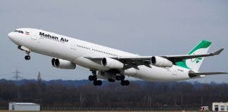 An Airbus A340 300 Of Iranian Airline Mahan Air Takes Off From Duesseldorf Airport