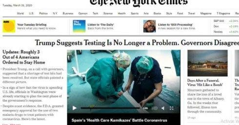 Nyt Takes To Its Cover The Battle Of The Spanish Img_