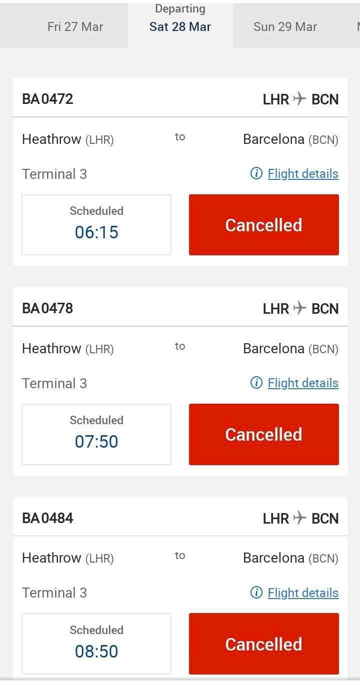 Cancelled Flight 1