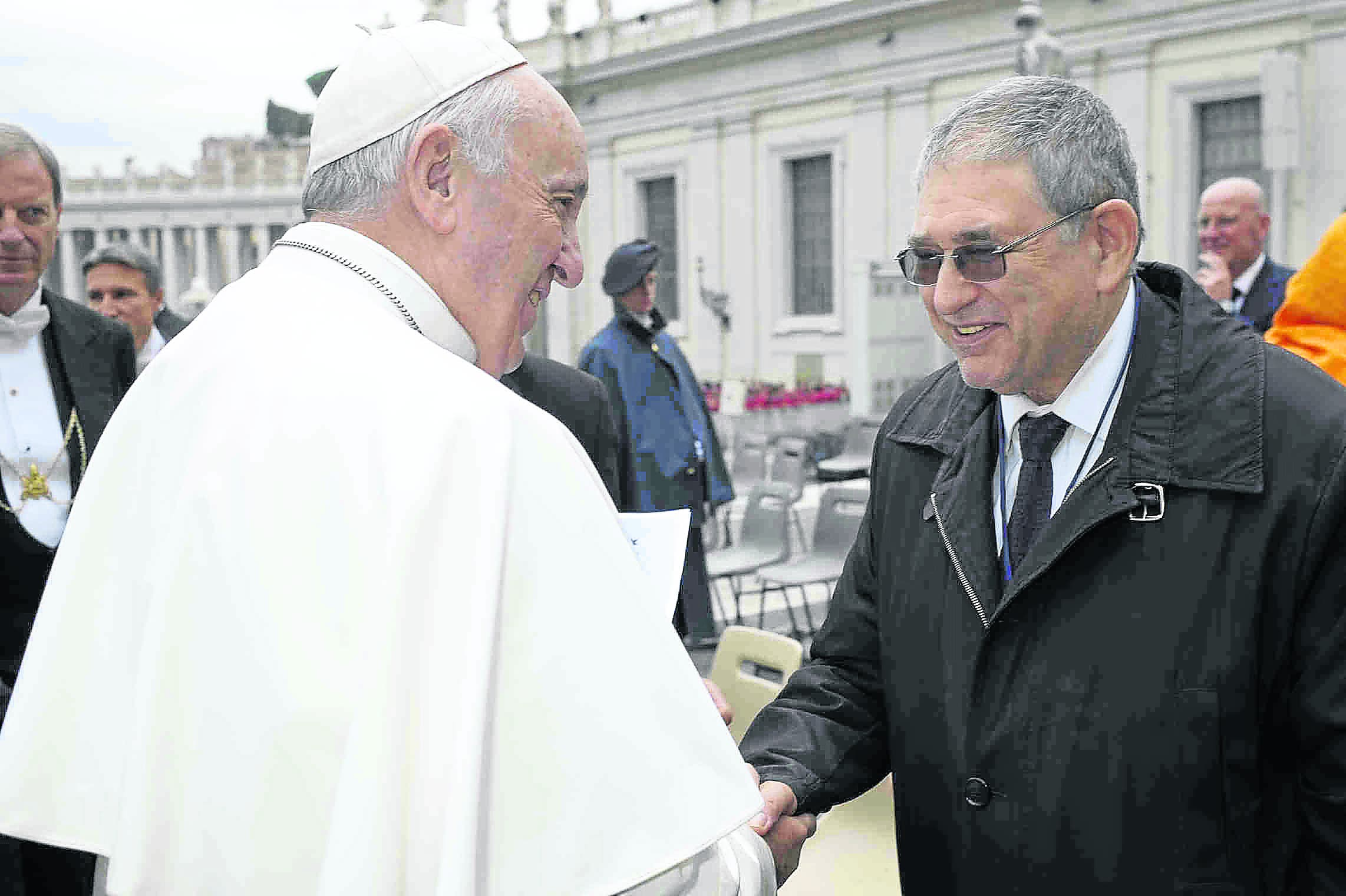 Nazi Hunter With Pope