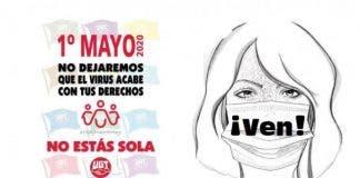 Uno De Los Carteles Que Animan A Participar En La Movilizacion Virtual Del 1 De Mayo De 2020