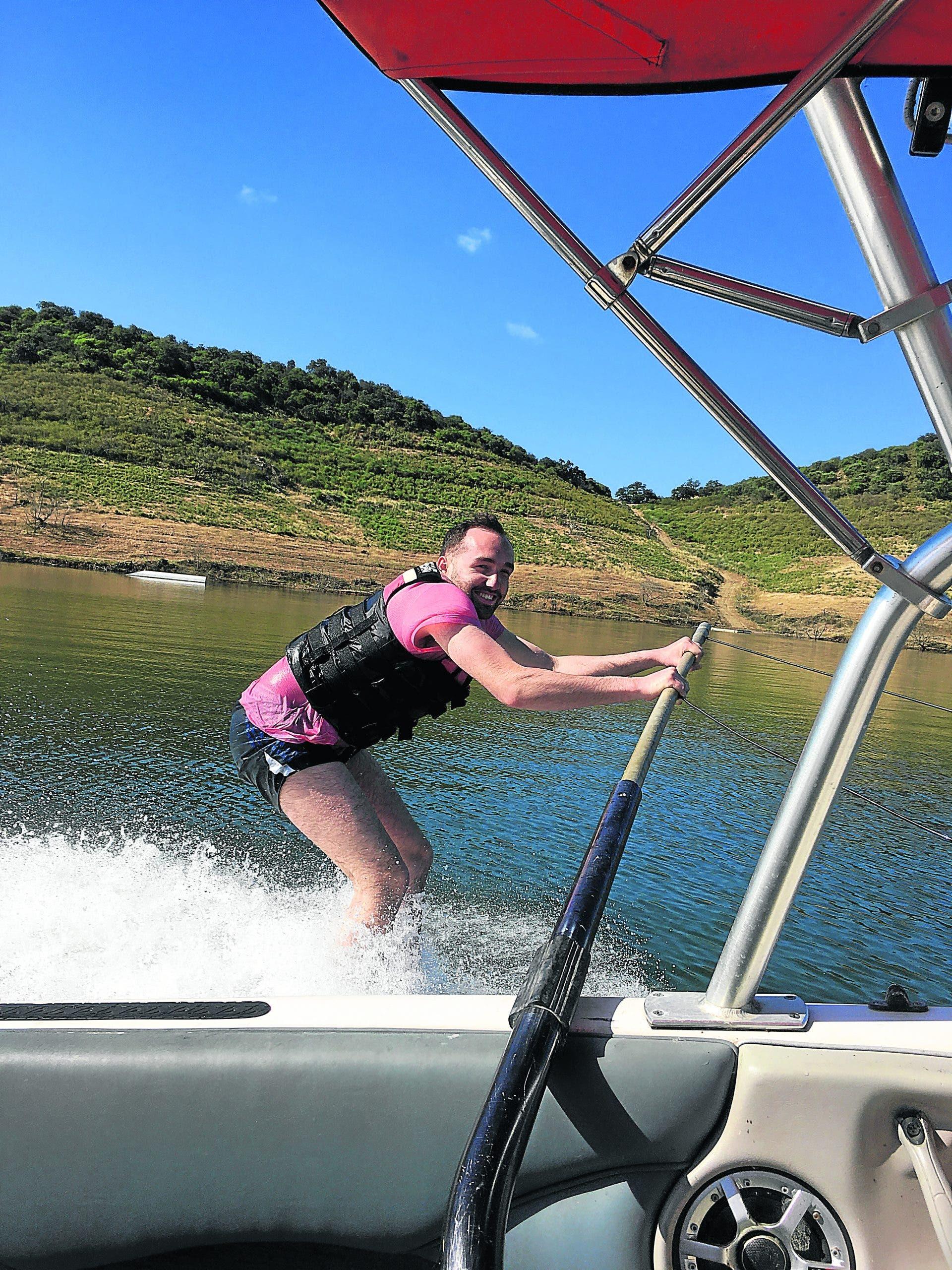 Charlie Water Skiing