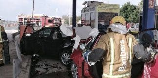 Costa Blanca Toll Booth Smash Next To Big Shopping Centre Popular With Expats