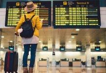 Tourist At Barcelona International Airport