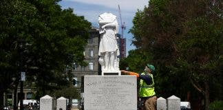 Head Removed From Christopher Columbus Statue In North End Of Boston