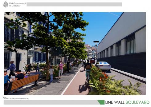 Line Wall Boulevard Visual 1