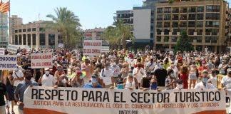 Benidorm Bar Closure Protest