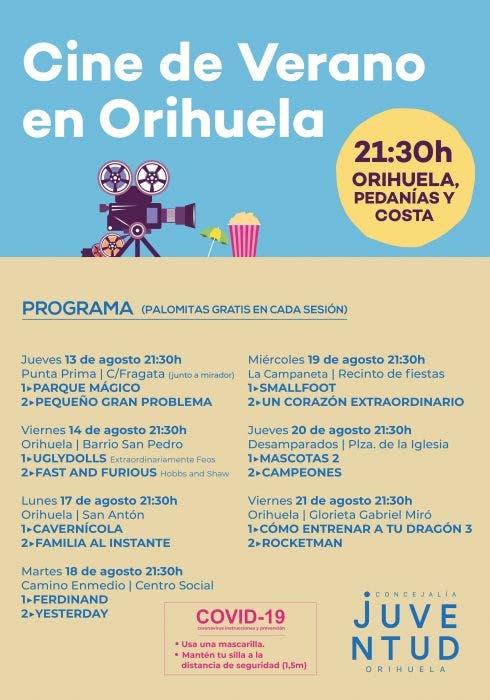 Cine De Verano Orihuela Dates