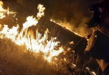 Firefighters Clamber Up Hillside To Battle Blaze On Spain S Costa Blanca