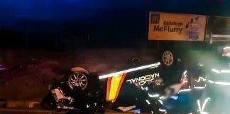Car Overturned Police