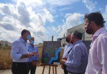 Question Mark Photo Three Ribera Salud And Orihuela Officials At Health Centre Site In July