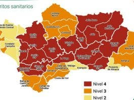Andalucia Risk Level Map