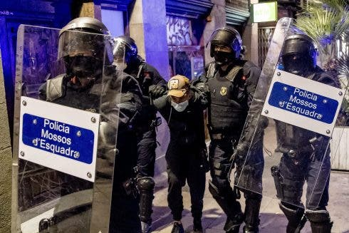 Riots In Barcelona Against Covid 19 Mesures