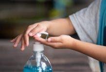 Child Hands Using Wash Hand Sanitizer Gel Pump Dispenser_28961 101