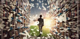 New Hidden World Behind The Library Books Open The Mind For Imagination