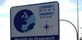Thieves Pinch Special Greenwich Meridian Road Sign From Denia On Spain S Costa Blanca