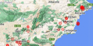 South Spain Quake Map 0611