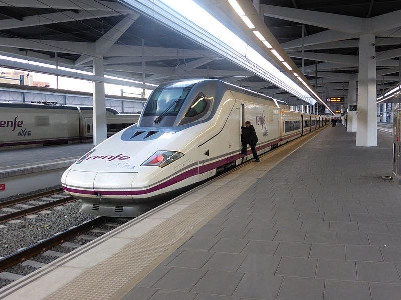 An Ave Train At Valencia's Joaquin Sorolla Station